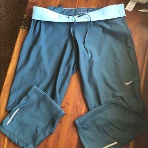 Nike teal running pants